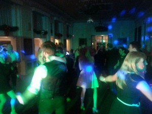 the dance floor is jumping